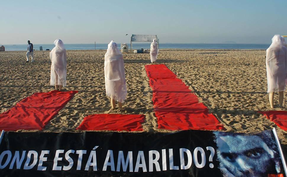 Protesto contra casos de desaparecimento no Rio