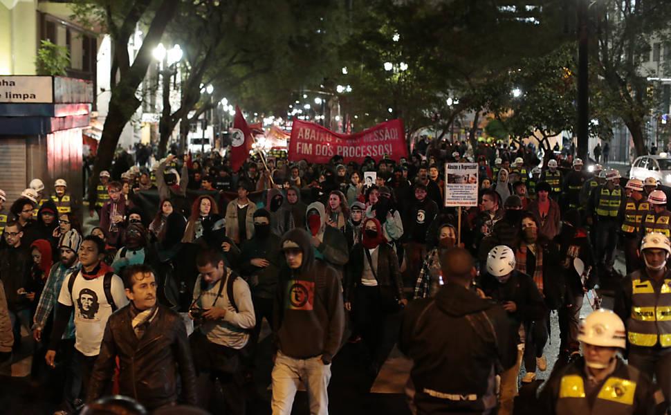 Ato contra a repressão policial em SP