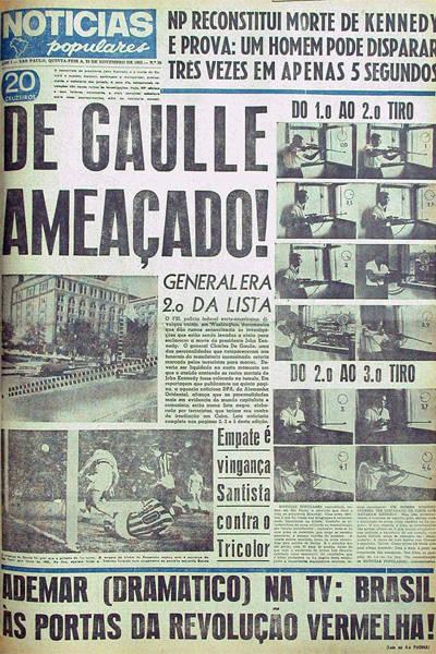 Capas históricas do Notícias Populares