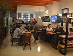Ambiente do Burger Lab Experience, no Panamby