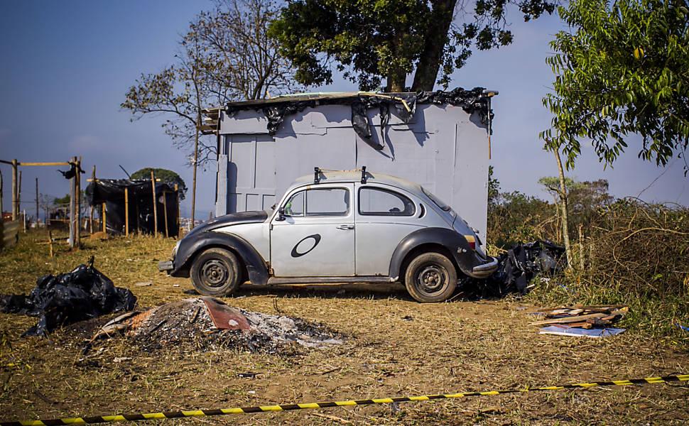 Barracos na ONG Anchieta Grajaú, em SP