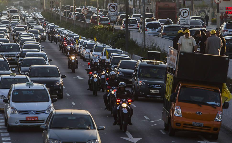 Protesto dos taxistas em SP