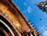 Detalhe do ouro que banha a fachada da Basílica di San Marco, na praça de San Marco no centro de Veneza