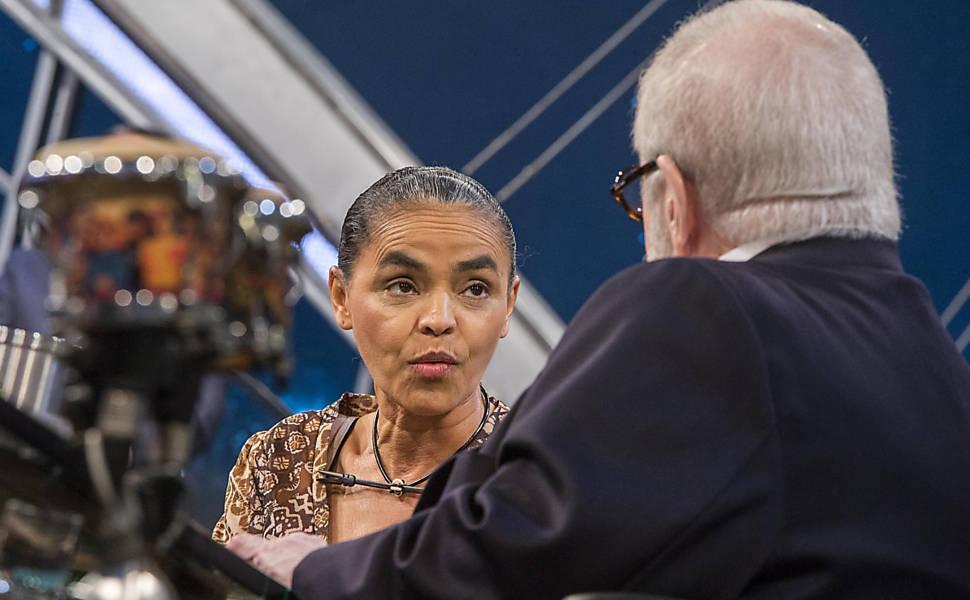 Marina Silva no 'Programa do Jô'