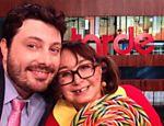 Danilo Gentili recebe Maria Antonieta de las Nieves, a Chiquinha, no programa 'Agora é Tarde'