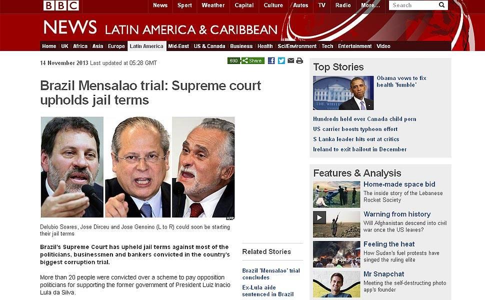 Julgamento do mensalão na imprensa internacional