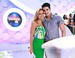 Luan Santana com a apresentadora Eliana