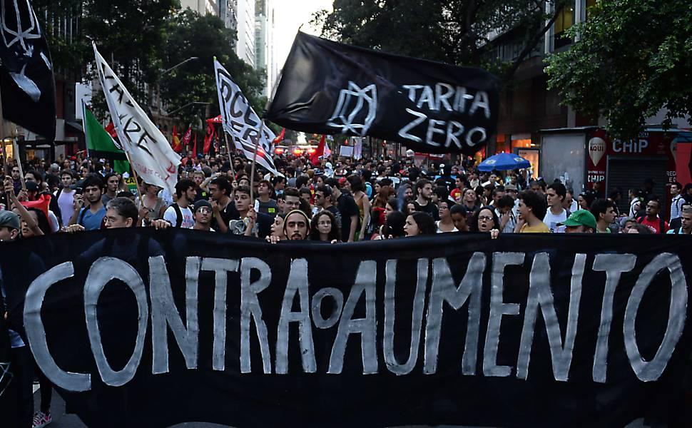 Protesto contra aumento da tarifa no Rio