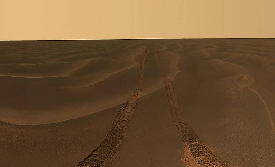O 'olhar' dos robôs da Nasa em Marte