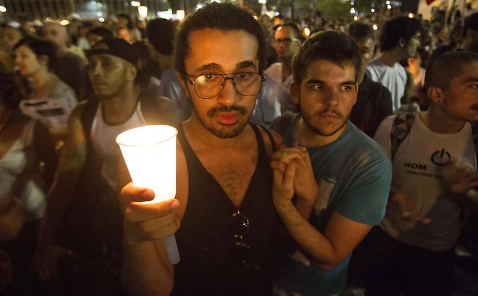 Protesto contra a homofobia