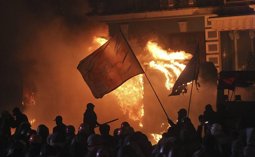 Manifestação na Ucrânia
