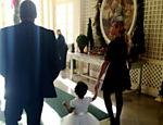 Beyoncé chegando na Casa Branca
