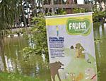 Aviso contra abandono de animais no Parque do Piqueri, Tatuapé.