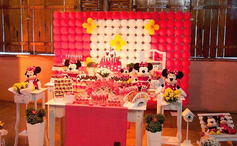 Mesas de festas de aniversário