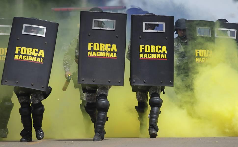 Treino da Força Nacional de Segurança