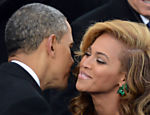 Barack Obama cumprimenta Beyoncé em evento