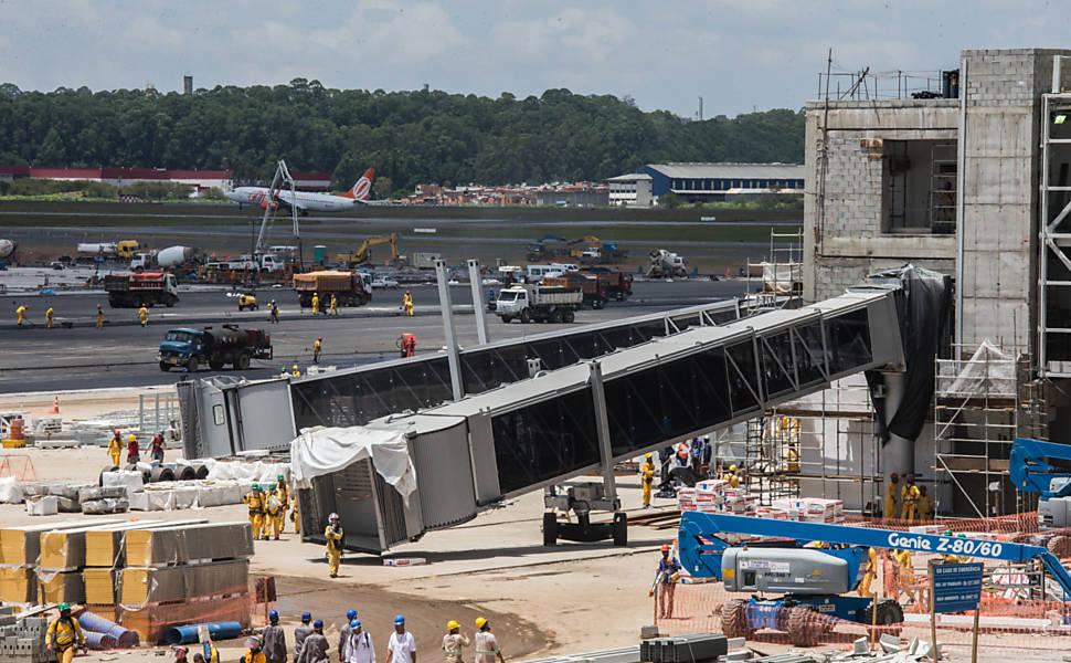 Aeroporto Guarulhos : Obras no aeroporto de cumbica cotidiano