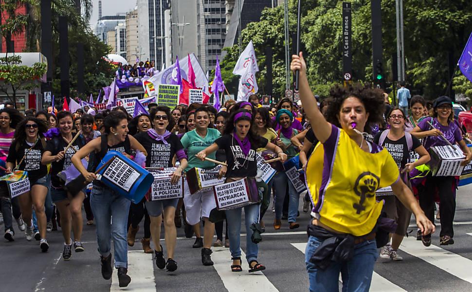 Marcha das mulheres em São Paulo