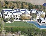 Vista aérea da casa de Gisele Bündchen e Tom Brady em Los Angeles