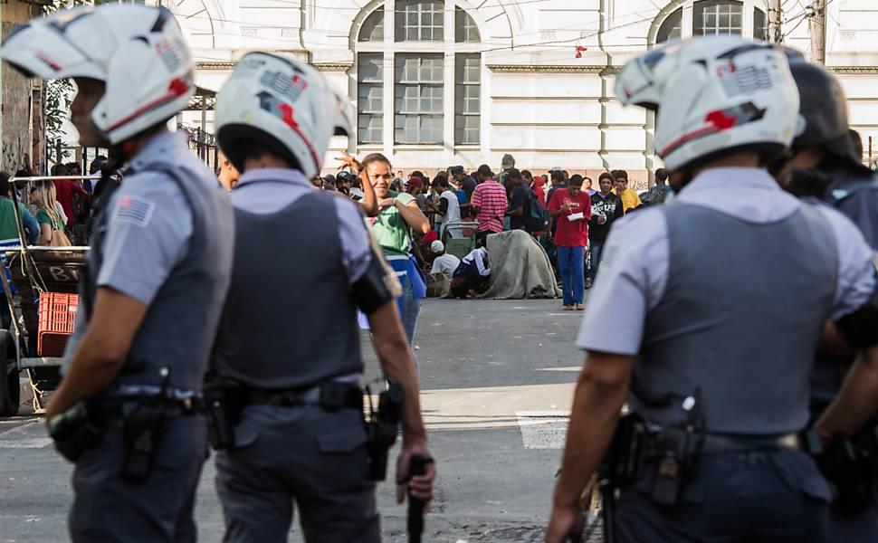 Detenções causam tumulto na cracolândia