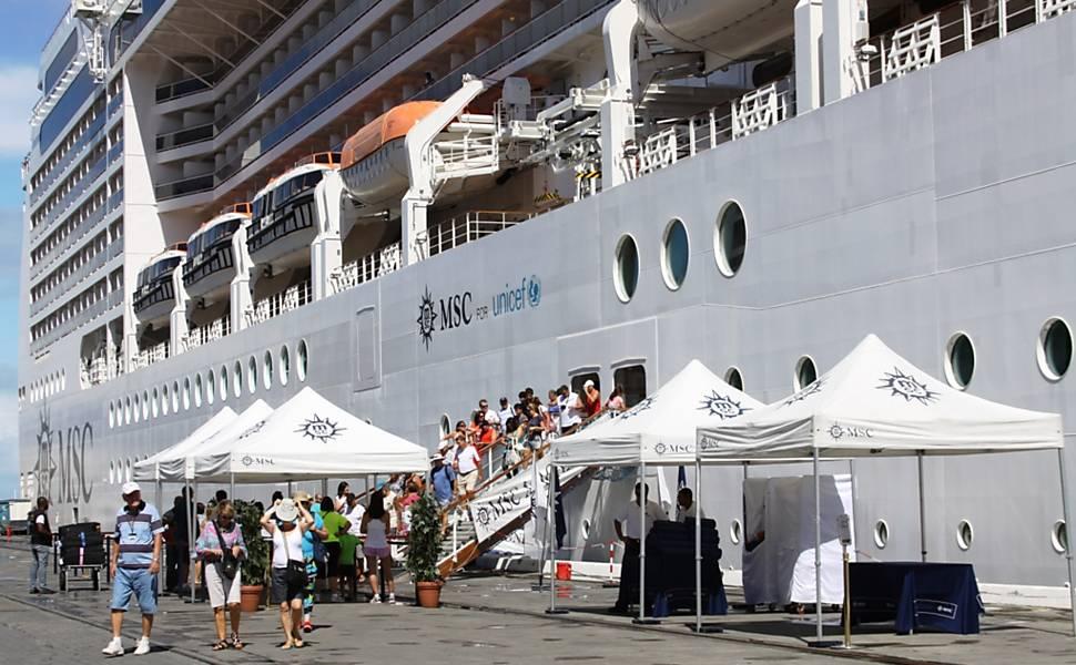 Fiscalização em navios de Turismo
