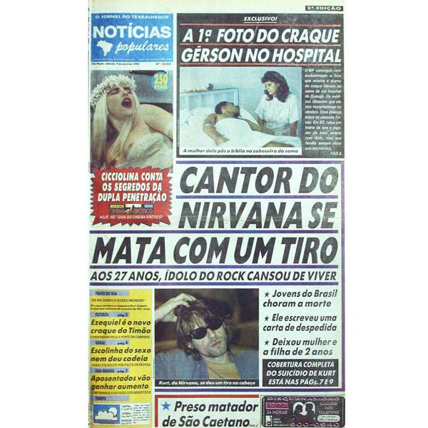Morte de Kurt Cobain no NP