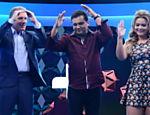 Roberto Justus recebe como convidados em seu programa Geraldo Luís e Geisy Arruda e dança o Lepo Lepo