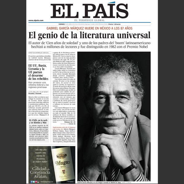 Repercussão da morte de Gabriel García Márquez