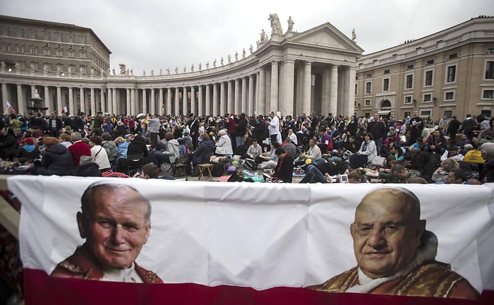 Canonização dos papas João Paulo 2º e João 23, em 2014