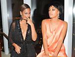 Beyoncé e sua irmã chegam ao baile de gala do MET, em Nova York