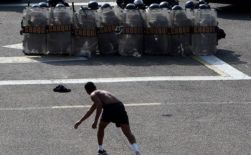 Treino da polícia do Rio com o FBI