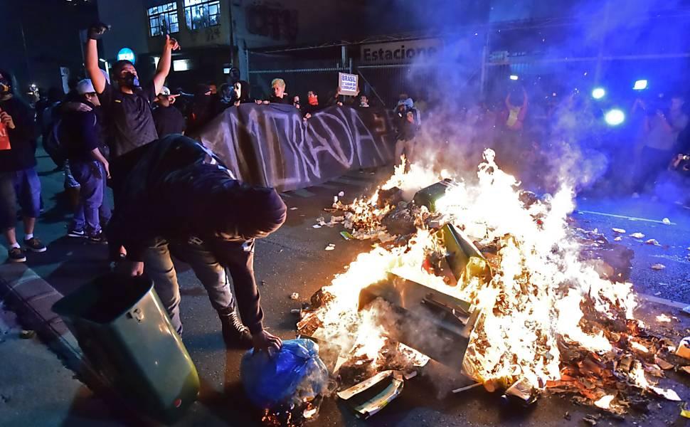 Protestas en São Paulo