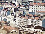Esta azulejaria da Igreja Bom Jesus, em Braga, retrata a paisagem da cidade