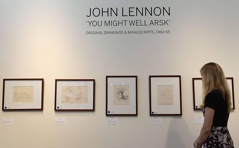 Ilustrações e manuscritos de John Lennon