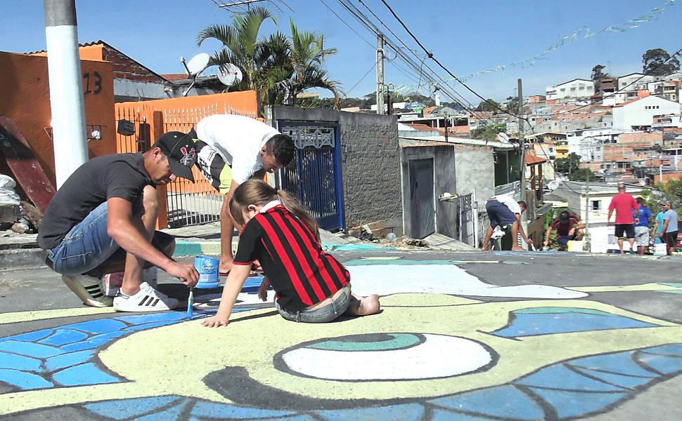 Decoração para a Copa do Mundo em Carapicuíba