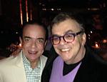 Chiquinho Scarpa e Walcyr Carrasco se encontram sem querer em restaurante em SP
