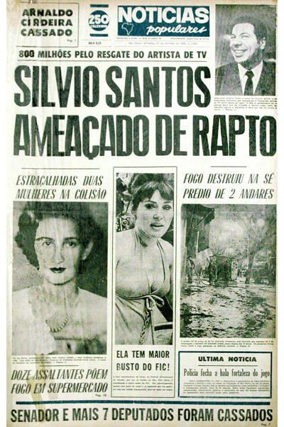 """Silvio Santos no """"Notícias Populares"""""""