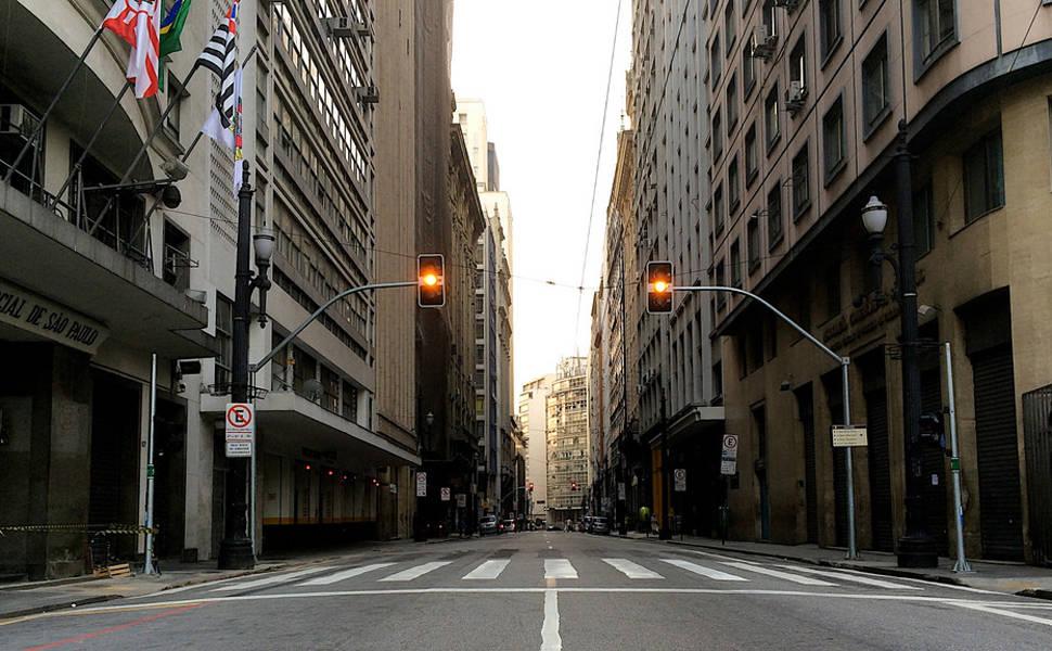 São Paulo vazia durante o jogo