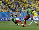 Neymar durante confronto do Brasil contra Camarões pela terceira rodada da fase de grupos da Copa, em Brasília