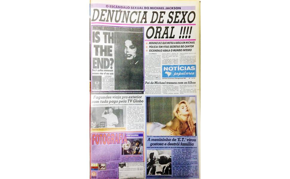 """Michael Jackson no """"Notícias Populares"""""""