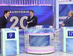Silvio Santos recebe Luiz Bacci e Leão Lobo
