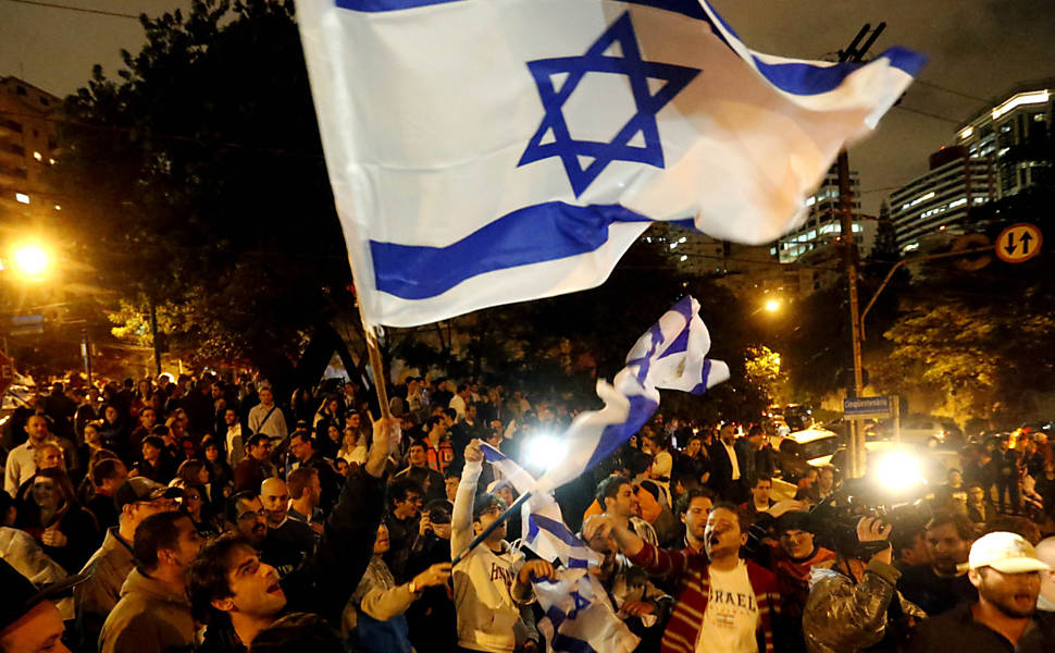 Manifestação pró-Israel em Higienópolis