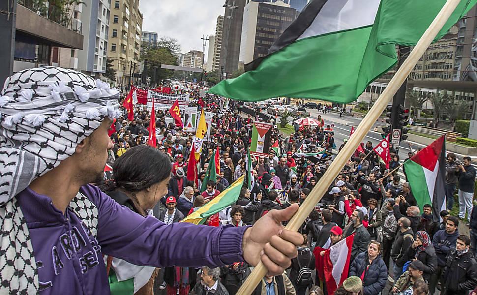 Manifestações pedem paz na faixa de Gaza