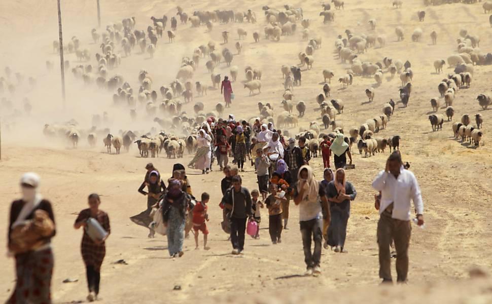 Yazidis fogem de confrontos no Iraque