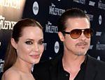 Angelina Jolie e Brad Pitt falam com a imprensa em Hollywood, Califórnia, nos Estados Unidos