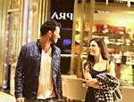 Isis Valverde em shopping com Uriel del Toro