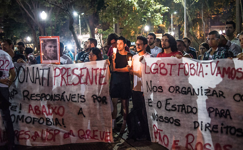Protesto contra homofobia
