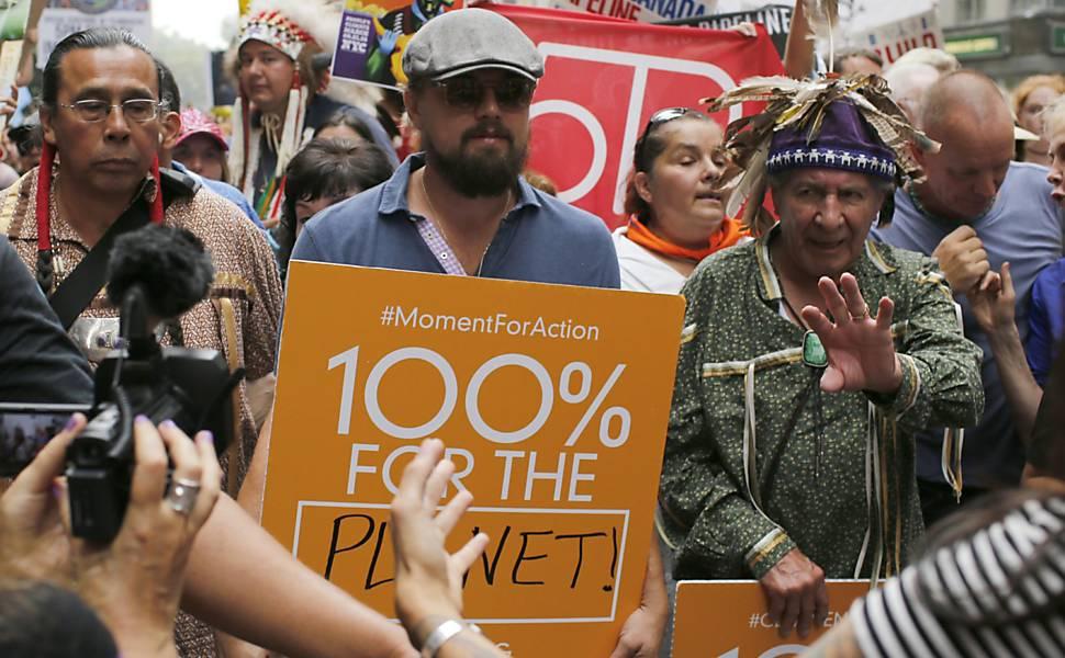 Marcha contra mudanças climáticas em NY