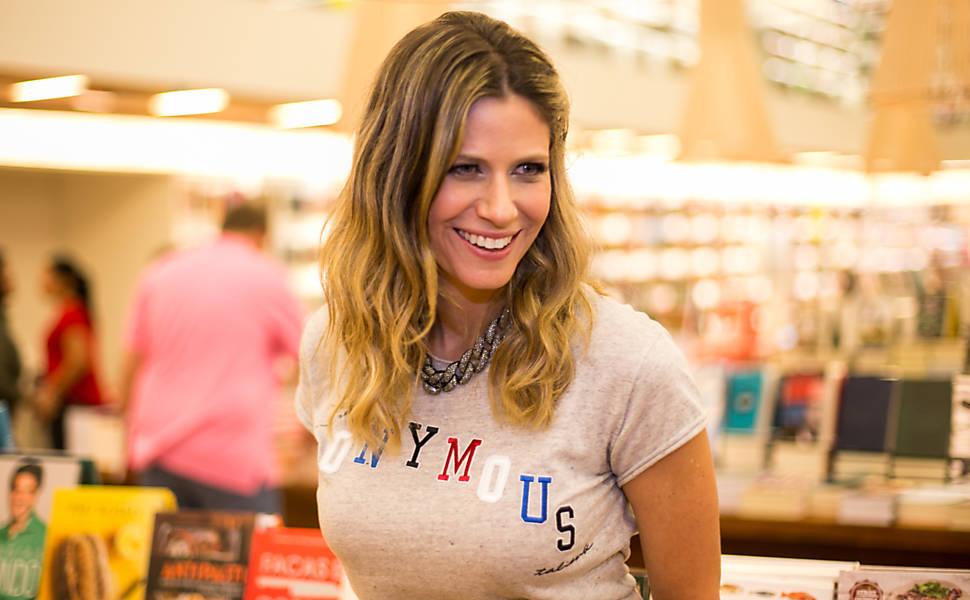 Didi Wagner no lançamento do guia 'Minha Nova York'