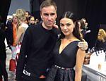 Isis Valverde e o diretor criativo da Dior, Raf Simons